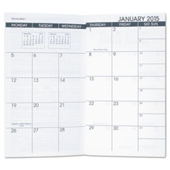 AT-A-GLANCE Pocket Size Monthly Planner Refill, 3 1/2 x 6 1/8, White, 2016-2017