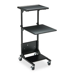 BALT Adjustable Height Projection Stand, 3-Shelf, 18w x 20d x 47-1/2h, Black