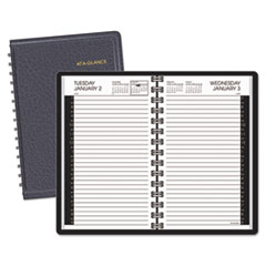 AT-A-GLANCE Daily Appointment Book with 30-Minute Appointments, 4 7/8 x 8, White, 2016