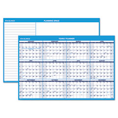 AT-A-GLANCE Horizontal Erasable Wall Planner, 48 x 32, Blue/White, 2015