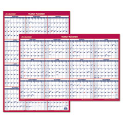 AT-A-GLANCE Erasable Vertical/Horizontal Wall Planner, 24 x 36, Blue/Red, 2016