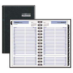 DayMinder Premiere Daily Appointment Book, 4 7/8 x 8, Black