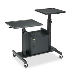 BALT Pro-View Projection Stand w/2 Platforms, 3-Shelf, 33w x 24d x 44-1/2h, Black