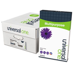 Universal One Multipurpose Paper, 98 Brightness, 20lb, 8-1/2x14, Bright White, 5000 Shts/Ctn