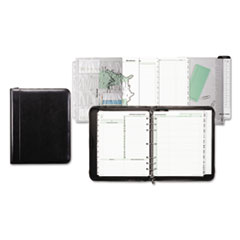 Day-Timer Aristo Bonded Leather Starter Set, 8 1/2 x 11, Black