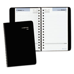 DayMinder Daily Appointment Book, 4 7/8 x 8, Black, 2016