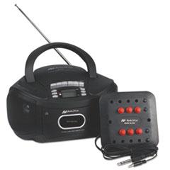 AmpliVox Six-Station Listening Center/Boombox, Gray