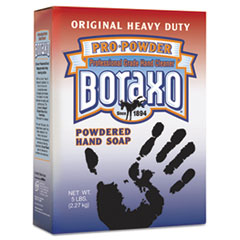 Boraxo Powdered Original Hand Soap, Unscented Powder, 5lb Box, 10/Carton