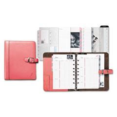 Day-Timer Pink Ribbon Loose-Leaf Organizer Starter Set, 5 1/2 x 8 1/2, Pink/White