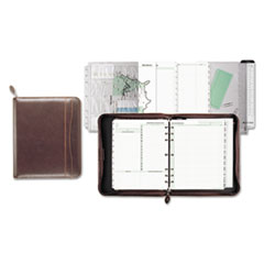 Day-Timer Sienna Simulated Leather Starter Set, 8 1/2 x 11, White