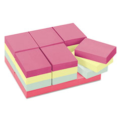 Post-it Notes Original Pads in Marseille Colors, Value Pack, 1 1/2 x 2, 100/Pad, 24 Pads/Pack