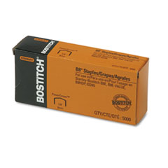 Stanley Bostitch Full Strip B8 Staples, 1/4 Inch Leg Length, 5,000/Box