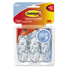 MMM 17091CLR6ES Command Clear Hooks and Strips MMM17091CLR6ES