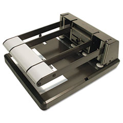 Bostitch 160-Sheet Capacity Xtreme Duty Adjustable Hole Punch, Antimicrobial, BK/Silver