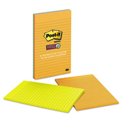 Post-it Notes Super Sticky Pads in Rio de Janeiro Colors, 5 x 8, Lined, 45/Pad, 4 Pads/Pack