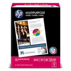HP Multipurpose Paper, 96 Bright, 20 lb, Letter, White, 2500 Sheets/Carton