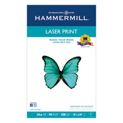 Hammermill Laser Print Office Paper, 98 Brightness, 24lb, 8-1/2 x 14, White, 500 Sheets/RM