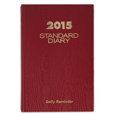 AT-A-GLANCE Standard Diary  Recycled Daily Reminder, Red, 5 3/4 x 8 1/4, 2016