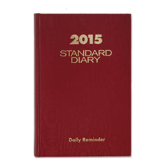 AT-A-GLANCE Standard Diary Recycled Daily Reminder, Red, 5 x 7 1/2, 2016