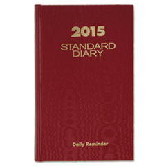 AT-A-GLANCE Standard Diary Recycled Daily Reminder, Red, 4 3/16 x 6 1/2, 2016