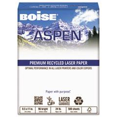 Boise ASPEN Premium Laser Paper, 96 Bright, 24lb, 8-1/2 x 11, White, 500 Sheets/Ream