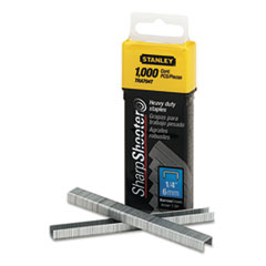 Stanley SharpShooter Heavy-Duty Tacker Staples, 1/4