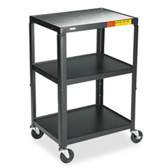 Bretford 5-In-1 Standard Adjustable AV Cart/Stand, 3-Shelf, 24 x 18 x 42, Black