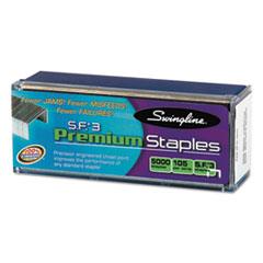 Swingline S.F. 3 Premium Chisel Point 105 Count Half-Strip Staples, 5000/Box