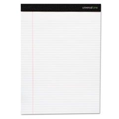 Universal One Perforated Edge Ruled Writing Pads, Legal, 6 Pads/Pack, White