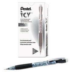 Pentel Icy Mechanical Pencil, 0.5 mm, Transparent Smoke Barrel