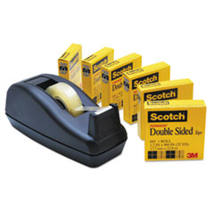 Scotch 665 Double-Sided Permanent Tape with C40 Dispenser, 1/2