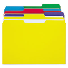 Universal One Colored File Folders, 1/3 Cut Single-Ply Top Tab, Letter, Assorted, 100/Box