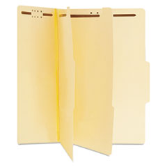 Universal Manila Classification Folders, Letter, Six-Section, 15/Box