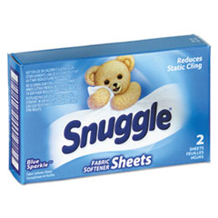 Snuggle Vend-Design Fabric Softener Sheets, Blue Sparkle, 2 Sheets/Box, 100 Boxes/Carton