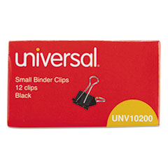 Universal Small Binder Clips, Steel Wire, 3/8