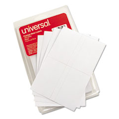 Universal Self-Adhesive Postage Meter Labels, 1-1/2w x 2-3/4 or 5-1/2, WE, 160-Sheet/Pack