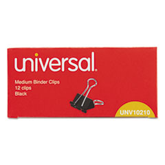 Universal Medium Binder Clips, Steel Wire, 5/8