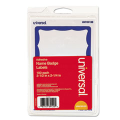 UNV 39120 Universal Self-Adhesive Name Badges UNV39120