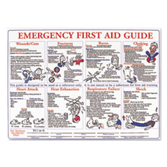 LMT HPS128E LabelMaster Emergency First Aid Guide Poster LMTHPS128E