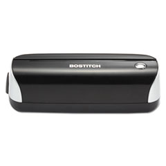 Bostitch 12-Sheet Capacity Electric Three-Hole Punch, Black