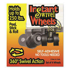 MAS 17240 Master Caster Roll-Arounds Instant Swivel Wheels MAS17240