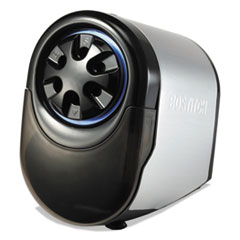 Bostitch QuietSharp Glow Classroom Electric Pencil Sharpener, Silver/Black