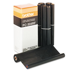 Brother PC304RF Thermal Ribbon Refill Roll, 4/Box