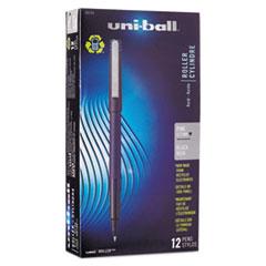 uni-ball Roller Ball Stick Dye-Based Pen Black Ink, Fine, Dozen