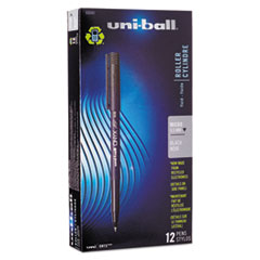 uni-ball Onyx Roller Ball Stick Dye-Based Pen, Black Ink, Micro, Dozen