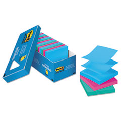 Post-it Pop-up Notes Pop-Up Note Refills, 3 x 3, Jaipur, 100/Pad, 18 Pads/Pack