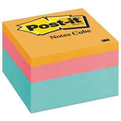 Post-it Notes Original Cubes, 3 x 3, Emerald Wave, 470/Pad