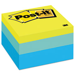 Post-it Notes Original Cubes, 3 x 3, Blue Wave, 470/Pad