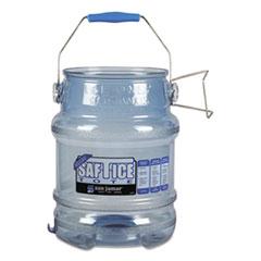 San Jamar Saf-T-Ice Tote, 5gal, Transparent Blue