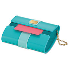 Post-it Pop-up Notes Pop-Up Notes Purse Dispenser, 3 x 3 Pad, Aqua